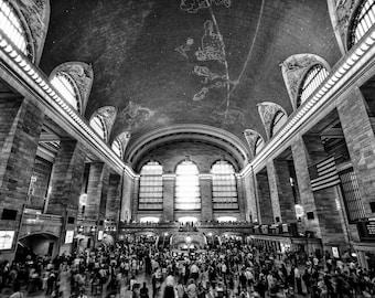 New York Photography - Grand Central Station, NYC photo,  Fine Art Photography, New York Architecture, 8x12 Photo, Manhattan, New York