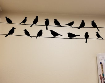 Birds on a wire decorative Vinyl wall Decal
