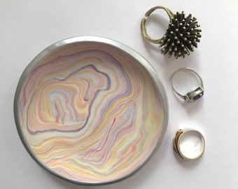 Jewelry Storage | Marbled Clay not Ceramic Dish | Trinket Dish | Ring Dish | Jewelry Dish | Gift under 20 | Bridesmaid Gift | Gift for Her