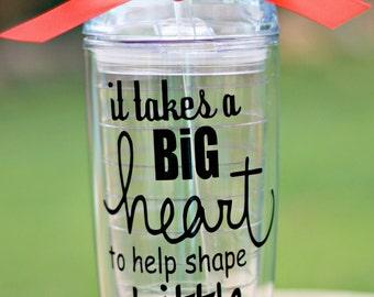Teacher appreciation gift, Teacher's aide gift. End of Year Teacher gift, Teacher appreciation Tumbler, 20 oz.Teacher Tumbler