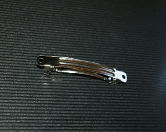 Silver Bobby PIN to decorate / customize 6 cm
