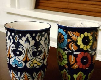 Beautifull hand made and hand painted vases