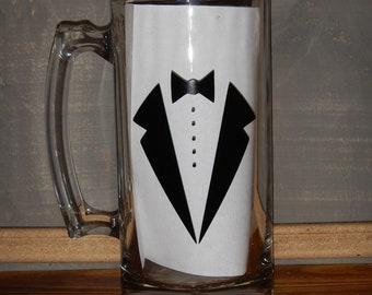 Tux Groom Beer Mug- Personalized