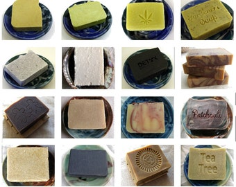 4 Handmade Soaps for 23 Soap Set by Aquarian Bath  Natural Soap - Palm Oil Free Soap - Palm Free soap