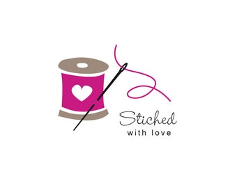 Sewing logo customised to your own business name.