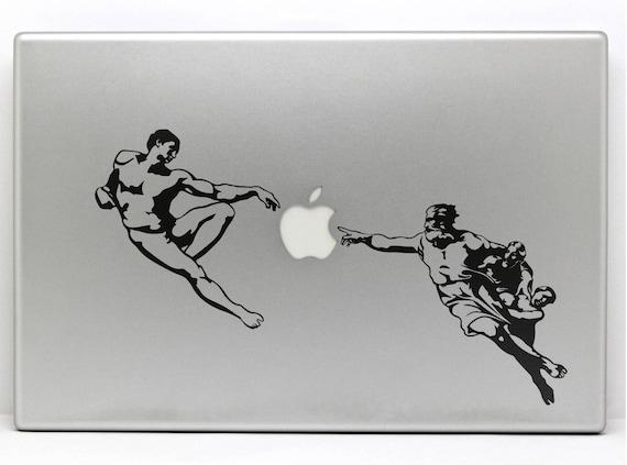 The Creation of Adam Decal Sticker, Decals stickers macbook vinyl, Michelangelo Sistine Chapel, mac, Macbook Decal Sticker