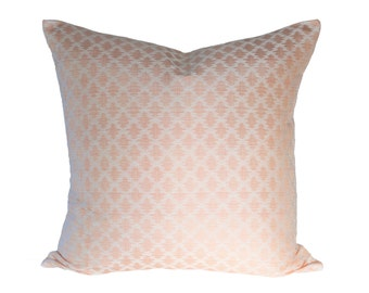 Sami Ikat Shrimp Strie designer pillow covers - Made to Order - Scalamandre