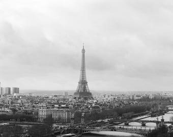 La dame de fer | Paris Print | Modern Art Print | Fine Art Photography | Parisian Art | Black and White Fine Art | Photography in Paris