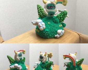 Fantasy piece, Yeti on your planet, kawaii miniature modeling