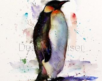 PENGUIN Watercolor Print by Dean Crouser