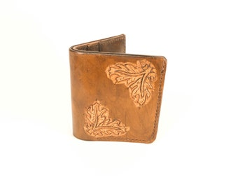 Bidold Wallet Oak Leaf Pattern