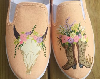 Country Girl Painted Shoes