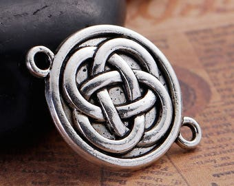 set of 5 charms/pendant knot Celtic 27 X 20 mm