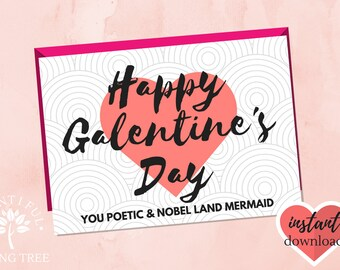 Galentines, Galentine's Day Card, Printable Galentine's Day Card, Best Friend Card , BFF Card, Parks and Rec Quote, Parks and Recreation