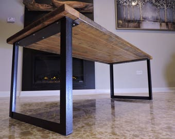 Superior Steel Coffee Table Base, Raw Steel, Custom Sizes Available