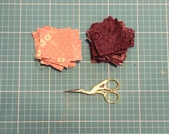 Square fabric scrap bundle