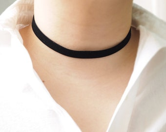 Black Choker,Black Velvet Choker, Plain Black Velvet Choker, Basic Velvet Choker, Simple Choker, choker necklace