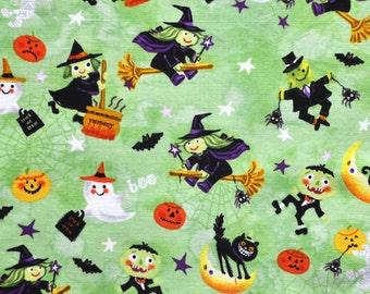 Halloween characters dog bandana slides over the collar