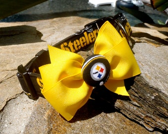 Steelers Collar With Bow