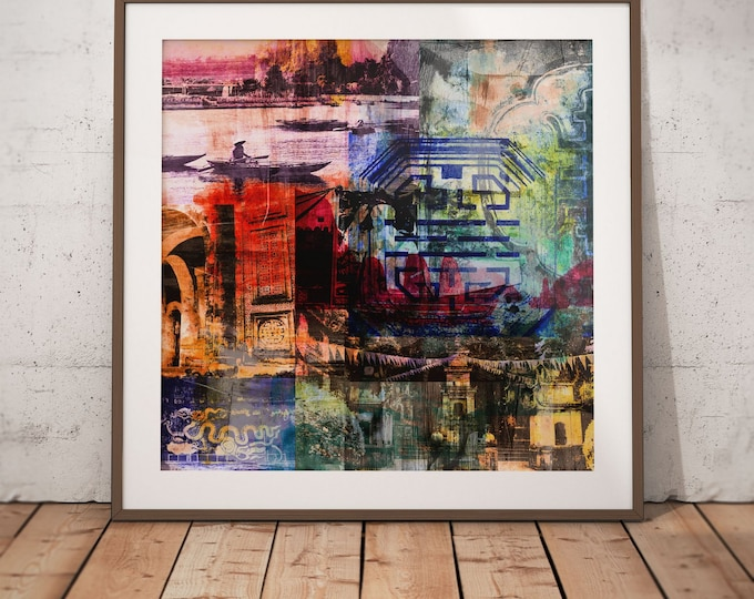 Vietnam Mixed Media XIII by Sven Pfrommer - Artwork is ready to hang with a solid wooden frame