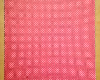 8.5x11 Red Polka Dot Paper