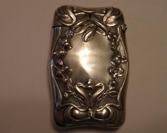 Art Nouveau Sterling Silver Matchsafe