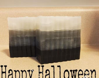 Vegan Activated Charcoal Ombre Soap