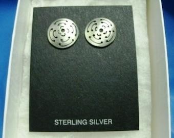 Hopi Native American Earrings Sterling Silver