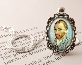 Vincent Van Gogh Pendant Necklace - Vincent Van Gogh Jewellery, Van Gogh Art Gift, Vintage Vincent Pendant, Post-Impressionist Jewelry