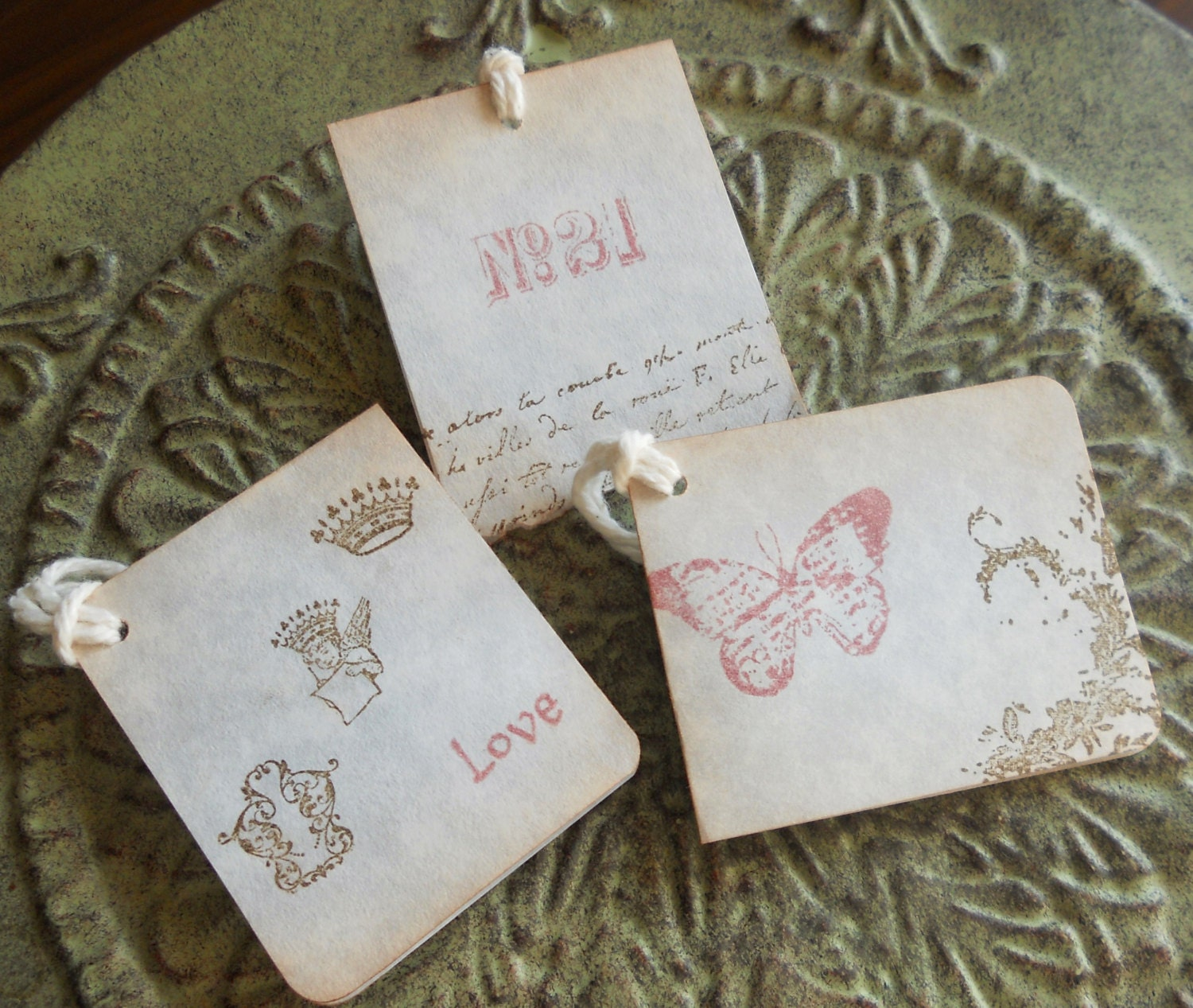 French vintage themed wedding gift favors, baby gift tags or mini ...