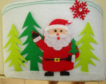 Pochette in felt Santa and FIR Green