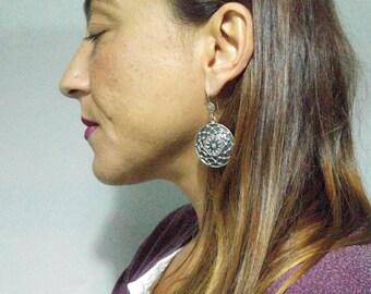 Earrings silver Sterling 925 ethnic style boho