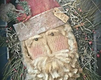 Kay's Primitive Olde Thyme Santa Head Pattern Packet