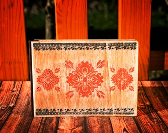 Ethno Pocket Wood Notebook A6 receiver Notepad  Drawing book Scribbling Pad Wooden History Book Writing Empty Label Sweet Remembrancer