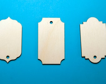 Laser Cut Wooden Gift / Price Tags with hole. craft supplies,DIY wedding, Wedding decorations, card making