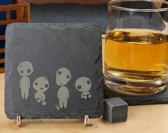 Kodama (Spirits)  - Premium Natural Slate Coaster
