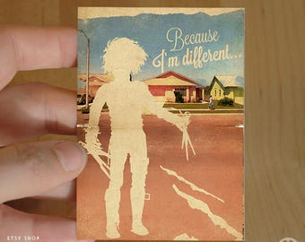 Edward Scissorhands Tim Burton Movie - ACEO ATC Mini Print Card - Pick your Size