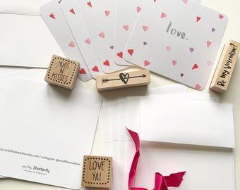 Love Hearts Postcard / Card