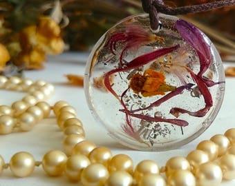 "SALE ON - Flower fairy garden handmade pendants "" Winds of Change """