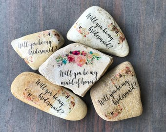 Will you be my bridesmaid/ maid of honor? Stones bundle of 5- Able to make more if needed