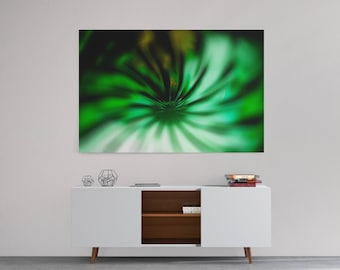 Abstract wall art for living room, Abstract home decor art print, Green abstract wall art canvas print, modern living room wall art