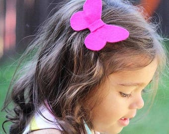 Butterfly Clip - Baby Girl Bow - Baby Bow - Toddler Hair Clip - Hair Clip - Butterflies - Toddler Outfit - Hair Accessories - Little Girl