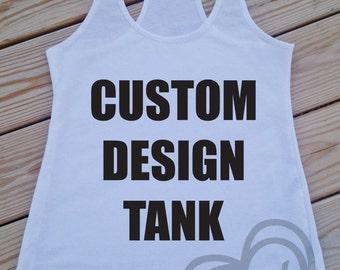 CUSTOM DESIGN TANK - fitness tank