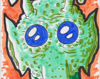 "Greedo Star Wars ACEO trading card2 1/2"" x 3 1/2"""