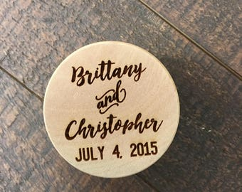 Custom Wedding Ring Box, Wedding Gift, Ring Bearer Box, Engraved Wooden Box, Custom Names Ring Box, With This Ring Box, Wooden Ring Box