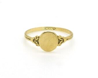 10ct Gold Vintage Stacking Pinkie Ring UK K US 5.5