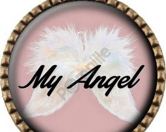 Bronze pendant Cabochon - My Angel (573) digital image