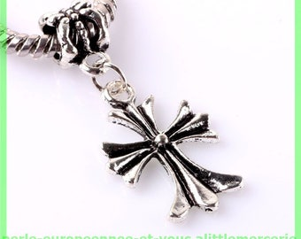 Pearl European bail N478 cross for bracelet charms