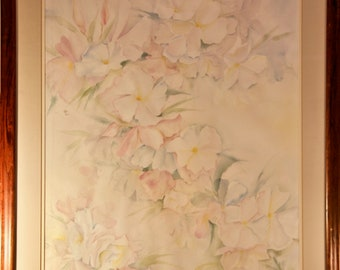 Signed Watercolor by Rosemary S. 29 by 35 inches
