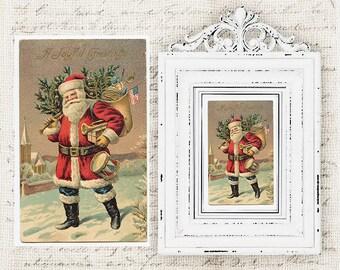 Digital Christmas Postcards - Antique Vintage Christmas Postcard - Victorian Christmas Card - Christmas Cards - INSTANT DOWNLOAD
